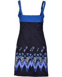 Versace Short Dress black - Lyst