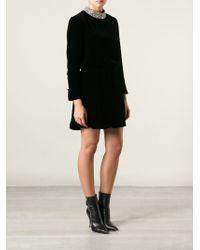 Saint Laurent Clementine Mini Dress - Lyst