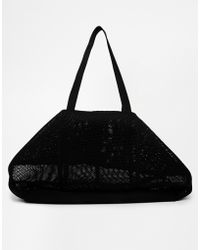 Asos Mesh Shopper Bag with Chunky Zip - Lyst