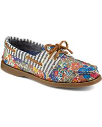 Sperry Top-Sider Liberty Floral Canvas Boat Shoes - Lyst