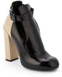 Jill Stuart Delphine Mixed Leather Ankle Boots - Lyst
