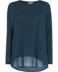 Label Lab | Knit And Chiffon Layered Top | Lyst