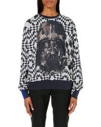 Preen Geometric-print Cotton-jersey Sweatshirt - Lyst