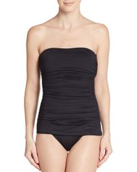 Ivanka Trump - One-piece Ruched Swimsuit - Lyst
