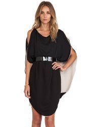 Halston Heritage Layered Dress - Lyst