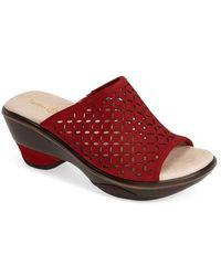 Jambu 'Ronnie' Perforated Slide Sandal - Lyst