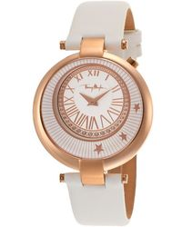 Thierry Mugler Women'S White Genuine Leather White Dial - Lyst