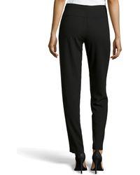 Halston Contrast Knit Tuxedo Pants - Lyst