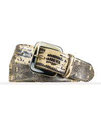 Ralph Lauren Lizard Belt beige - Lyst