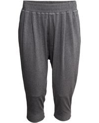 H&M 3/4-Length Sports Trousers black - Lyst
