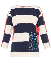 Stella McCartney Contrast-Pocket Striped Top - Lyst