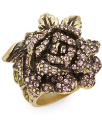 Heidi Daus - Rose Elegance Swarovski Crystal Ring - Lyst