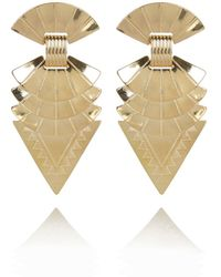River Island Gold Tone Tribal Triangle Stud Earrings - Lyst