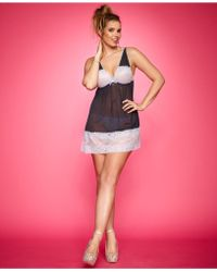 Honeydew Plus Size Coquette Mesh & Lace Babydoll And Thong Set - Lyst