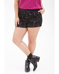 Forever 21 Textured Baroque Floral Shorts - Lyst