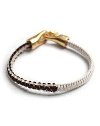 Lulu Frost G Frost Braided Harpoon Bracelet - Whtblkbrass - Lyst