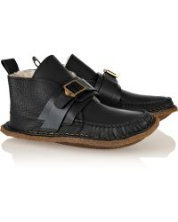 Chloé Shearlinglined Leather Moccasins - Lyst