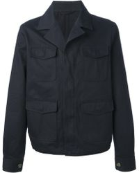 Ami Cotton Button Down Jacket - Lyst