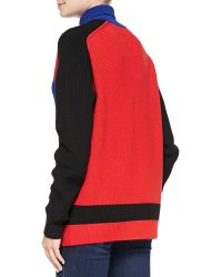 Risto - Blue Moon Wolf Turtleneck Sweater - Lyst