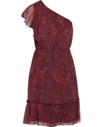 Anna Sui Printed Silk-georgette Dress - Lyst