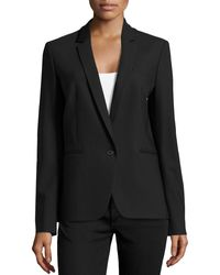 Michael Kors Black One-Button Blazer - Lyst