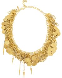 Vickisarge | After The Goldrush Gold-Plated Swarovski Crystal Necklace | Lyst