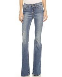 Victoria Beckham Flare Jeans - Salt - Lyst