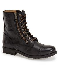 Frye | 'tyler' Double Zip Military Boot | Lyst