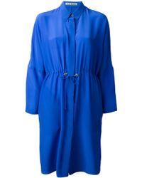 Acne Studios Peg Se Crepe Shirt Dress - Lyst