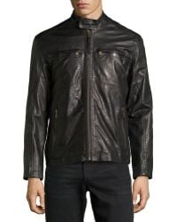 Marc New York By Andrew Marc Vine Double-Zip Leather Jacket - Lyst