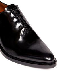 Givenchy 'Richelieu' Metal Heel Patent Leather Lace-Ups - Lyst