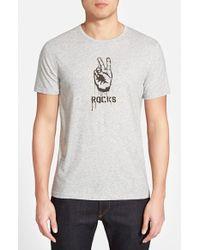 John Varvatos 'Peace Rocks' T-Shirt - Lyst