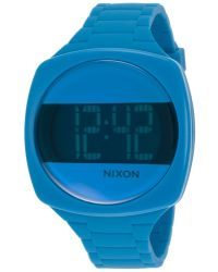 Nixon Womens Dash Digital Blue Silicone Blue and Black Dial - Lyst