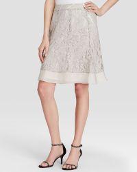 Nic + Zoe Heirloom Flowers Lace Skirt beige - Lyst