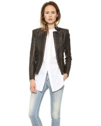Pierre Balmain Leather Moto Jacket Black - Lyst