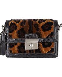Dolce & Gabbana Velvet  Snakeskin Dolce Bag - Lyst