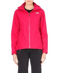 The North Face Pink Waterproof Jacket - Lyst