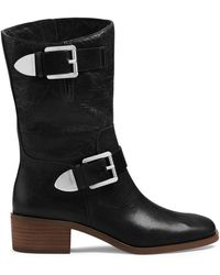 Michael Kors Michael Robin Leather Boot - Lyst