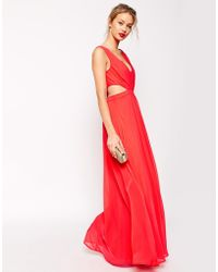 Asos Side Cutout Maxi Dress - Lyst