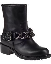 Giuseppe Zanotti Chain Biker Boot Black Leather - Lyst
