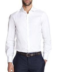 Brunello Cucinelli Slim-Fit Cotton Sportshirt - Lyst