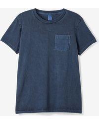 Velva Sheen Pigment Dyed Crew Neck Short Sleeve Tee blue - Lyst