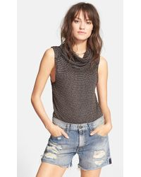 Free People 'Timbler' Cowl Neck Top - Lyst