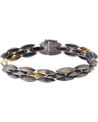 Alexis Bittar Fine - Silver And Gold Triple Row Marquis Bracelet - Lyst