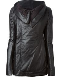 Rick Owens Draped Collar Jacket - Lyst