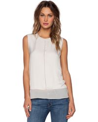 Vince White Overlay Blouse - Lyst