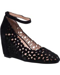 Jeffrey Campbell Delaisy Wedge Pump Black Suede - Lyst