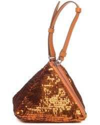 Givenchy Pyramid Sequin and Leather Clutch - Lyst