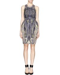 McQ by Alexander McQueen Cross Back Print Dress - Lyst