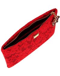 Dolce & Gabbana - Red Lace Pouch Bag - Lyst